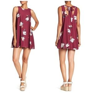 Amanda Uprichard Marnie Floral Shift Dress in Red